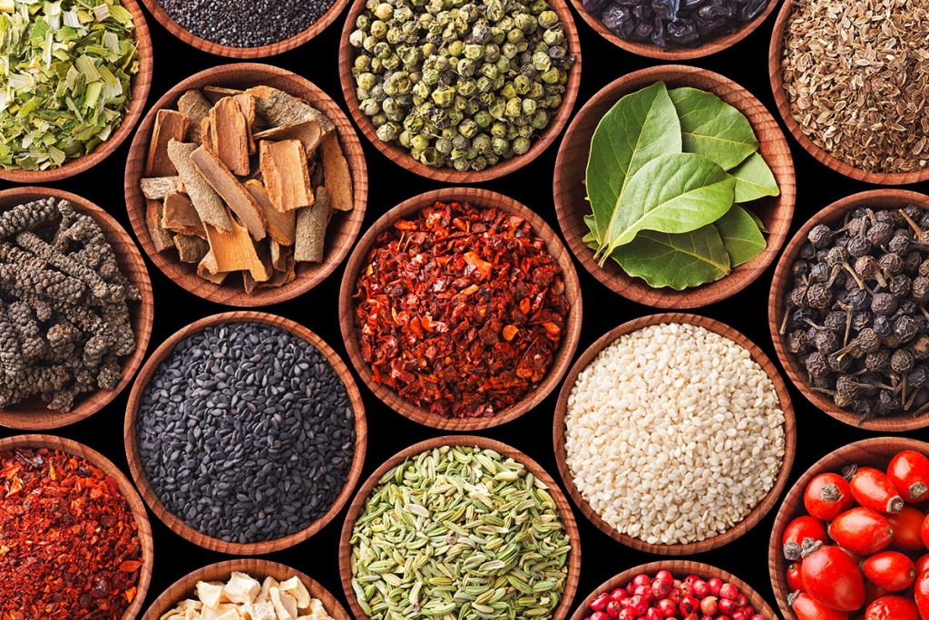 Dry herbs and spices